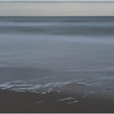 Katwijk. De zee (lange belichtingstijd).
