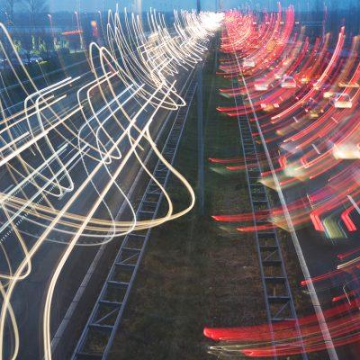 De A4. Links rijden ze nog, rechts staan ze in de file.