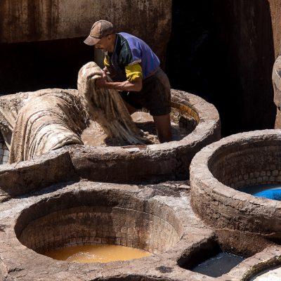 Leerlooiers in Fez