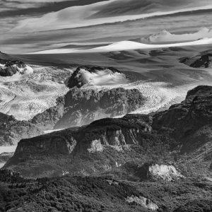 Gletscher in Patagonia bij Lago Grey